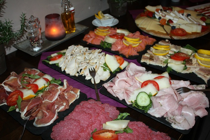 Serve your food buffet style to make for an easy party.