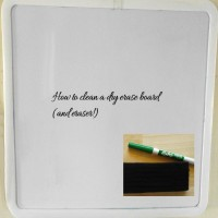 Cleaning a Dry Erase Board