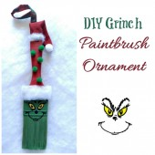Grinch Paintbrush Ornament
