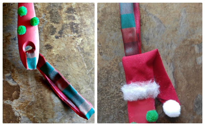 Making the hat and hanger for the Grinch Paintbrush Ornament