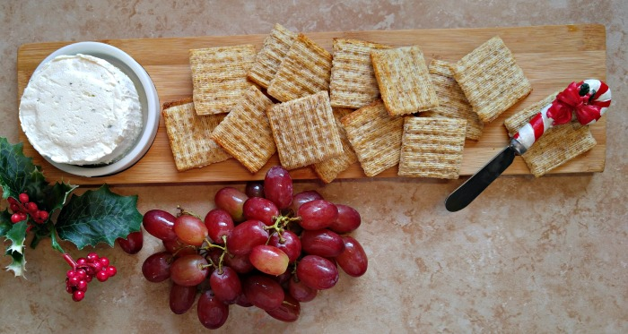 Boursin cheese and crackers