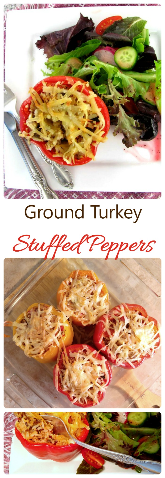 These Ground Turkey Stuffed Peppers are the ultimate healthy comfort ...