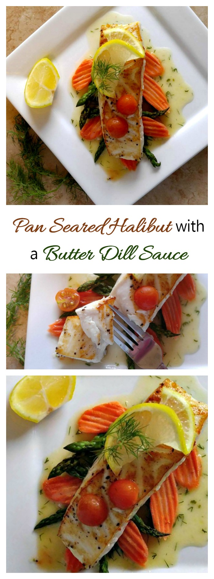 This Pan seared halibut with a butter dill sauce recipe is delicate and flavorful. The sauce is made before cooking the fish to make sure that the recipe turns out well every time. #ad #IC #AskForAlaska