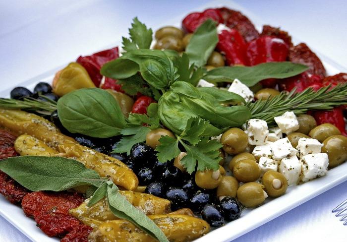 Antipasto vegetables