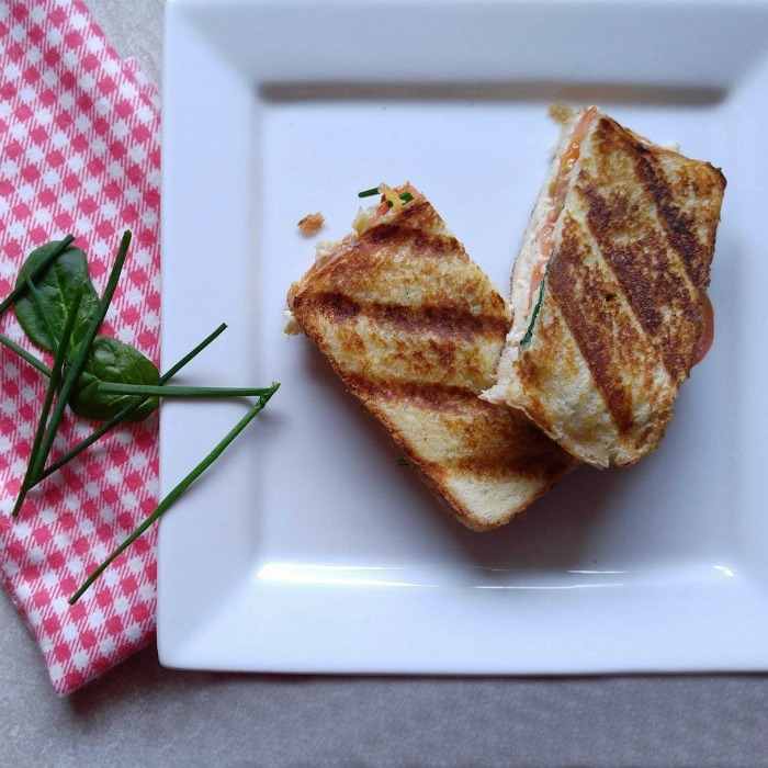 This chicken cheese panini makes a great lunch choice