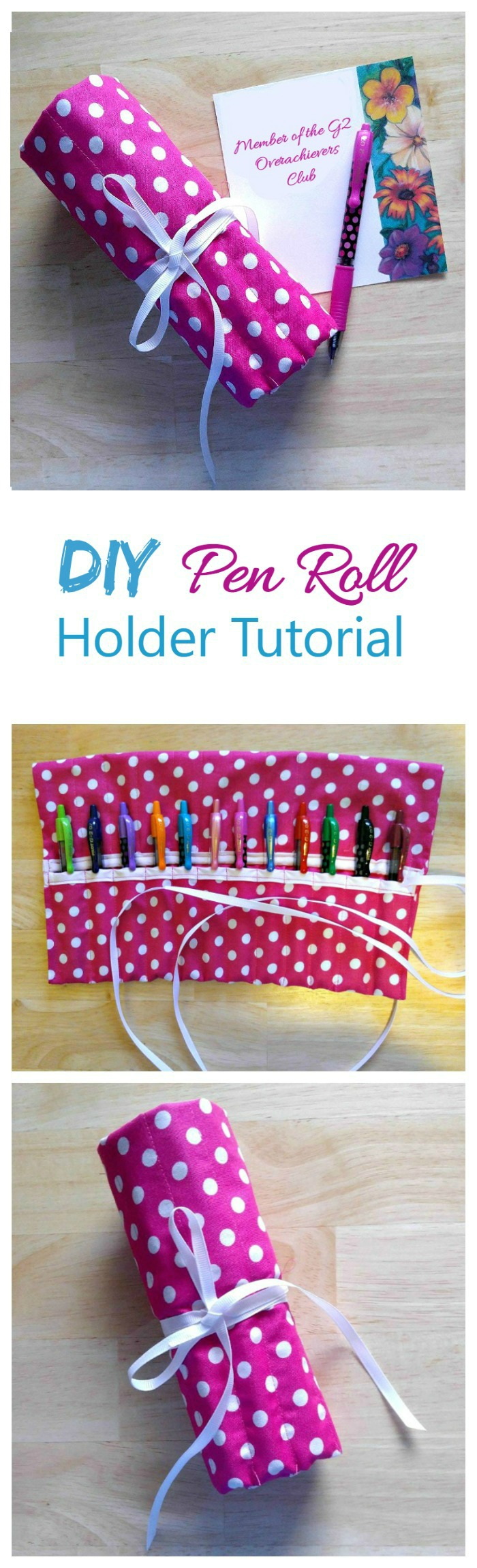 This DIY pen roll case is the perfect way to hold all your favorite pens in one place. It's perfect for back to school for your kids, or to have in a home office to keep the pens in one place. #PilotYourLife #ad