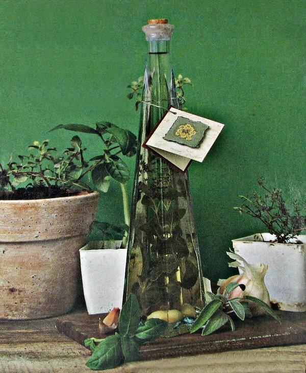 Italian herb vinegar