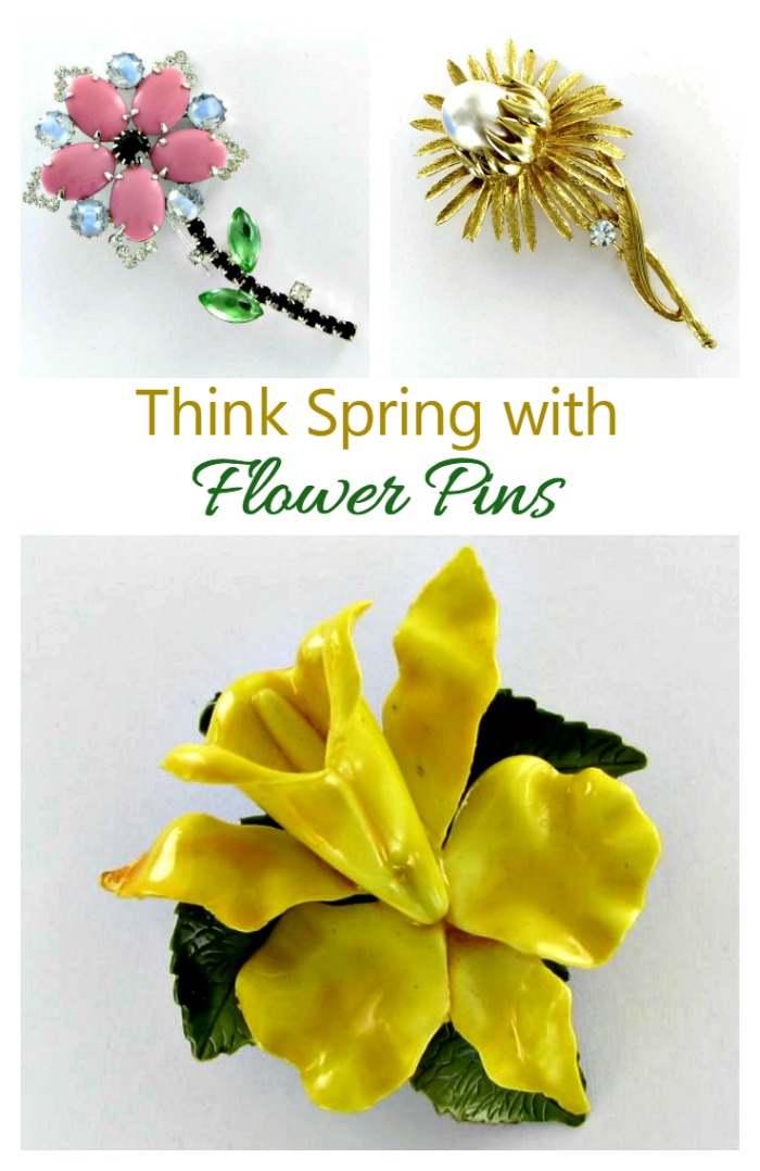 The the weather is cold and blustery, flower pins add a touch of spring to your wardrobe