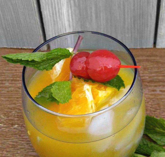 Add some fresh oranges to your Orange Cherry Mocktail