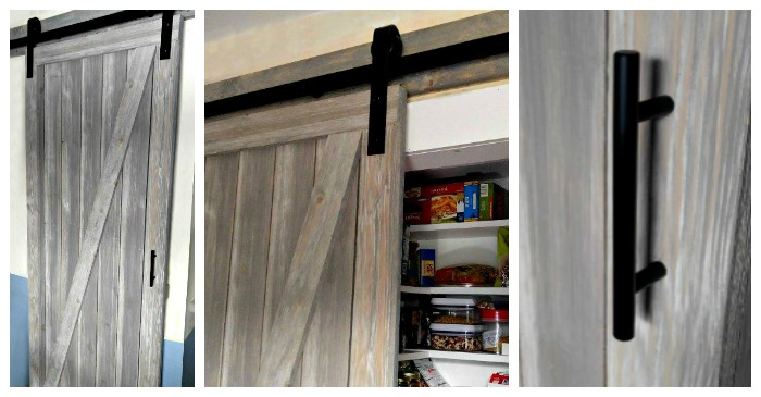 Diy Shiplap Barn Door Is A Space Saver For A Narrow Galley
