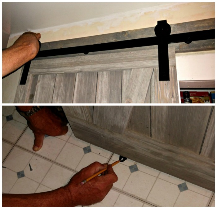 Install door and bottom slider