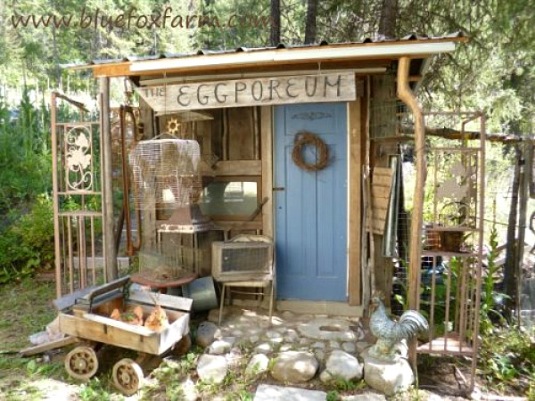 Garden Sheds add a Whimsical Touch to a Back Yard