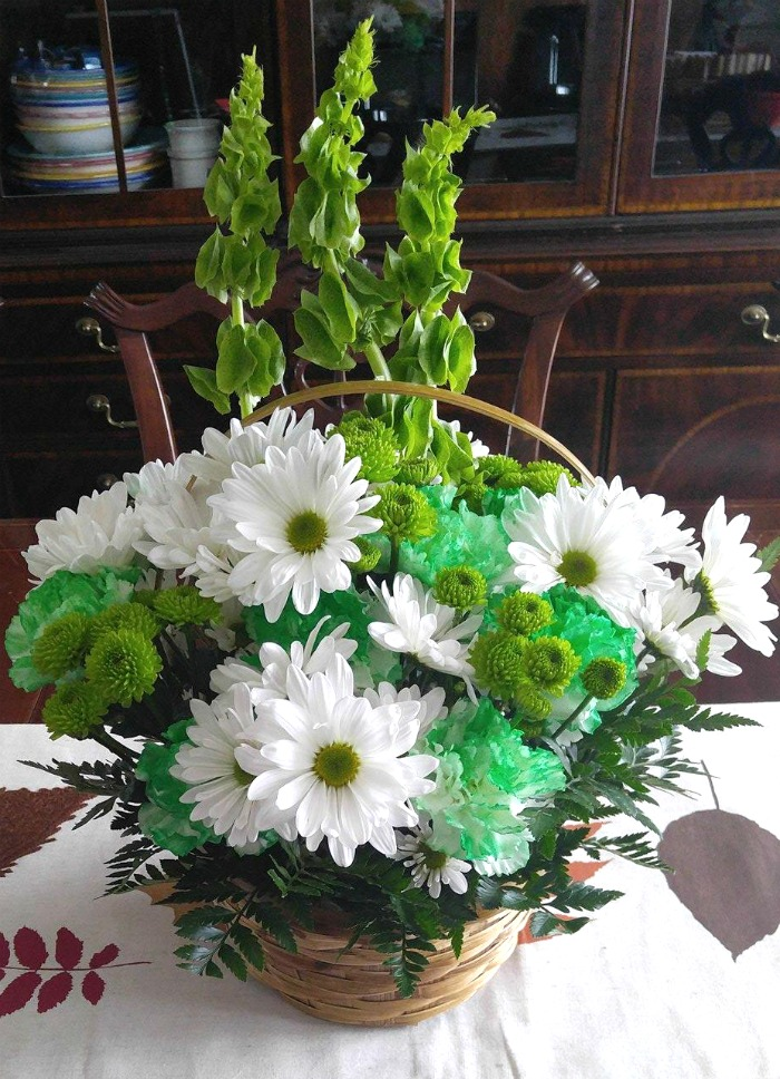 Fresh flowers for St. Patrick's day