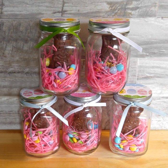 Mason Jar Easter Bunny Treats
