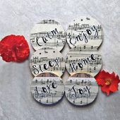 Music Sheet Coasters