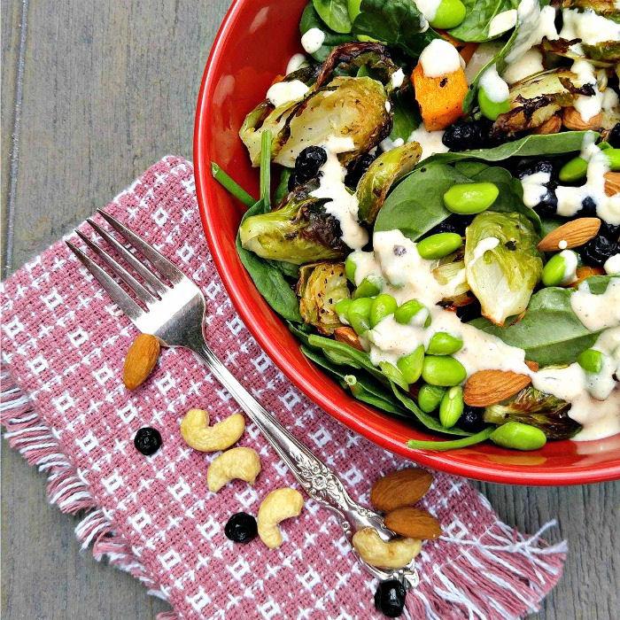 Hearty roast vegetable salad