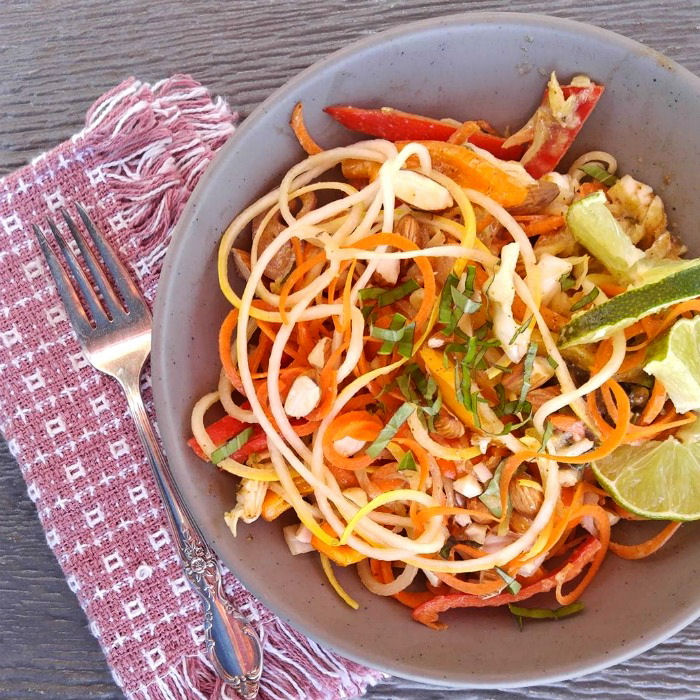 Take a bite of this Asian zucchini noodle salad