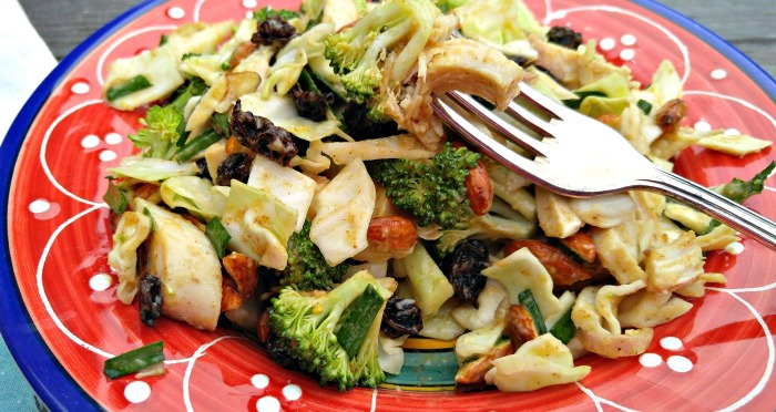 Take a bite of this broccoli and chicken salad