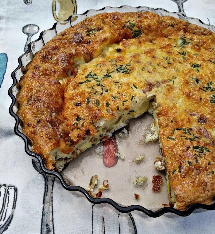 Healthy egg quiche