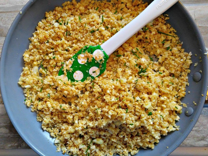 Caulifower rice with chives