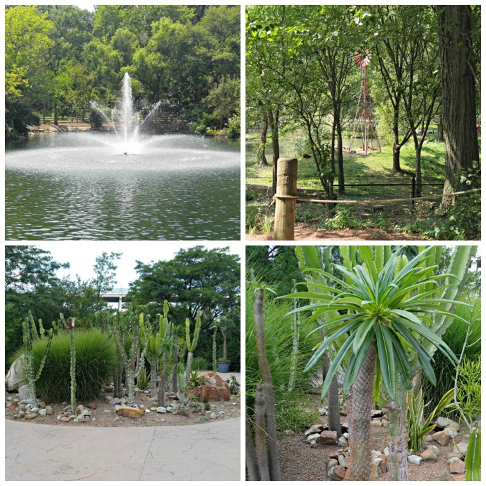 Landscaped gardens at the Cleveland Zoo