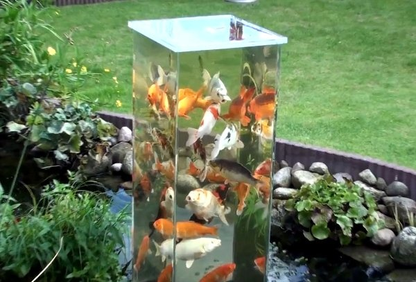 Diy garden decoration projects make your own garden art for Cool fish ponds