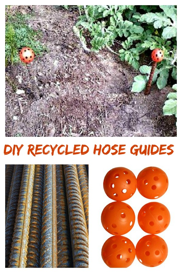 DIY Hose Guides - A decorative recycled garden project