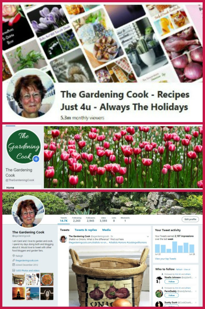 The Gardening Cook on Social Media