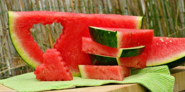 Fresh Sliced watermelon is a summer time treat