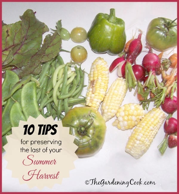 10 tips for preserving summer vegetables - the gardeningcook.com/summer-vegetables