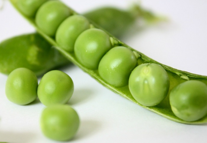 Plump English garden peas