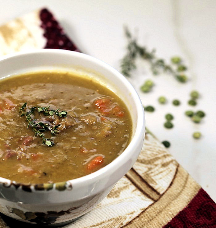 Split pea soup recipe with fresh thyme