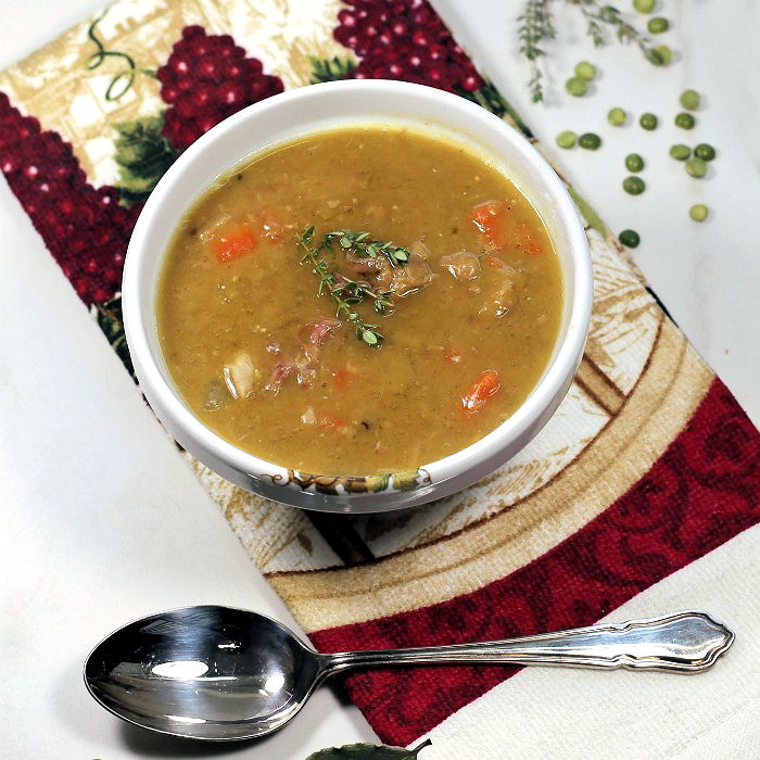Pea and ham soup slow cooker recipe