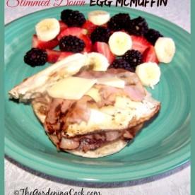 Slimmed down Egg McMuffin