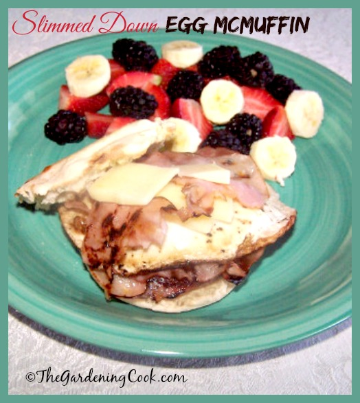 Slimmed down Egg McMuffin