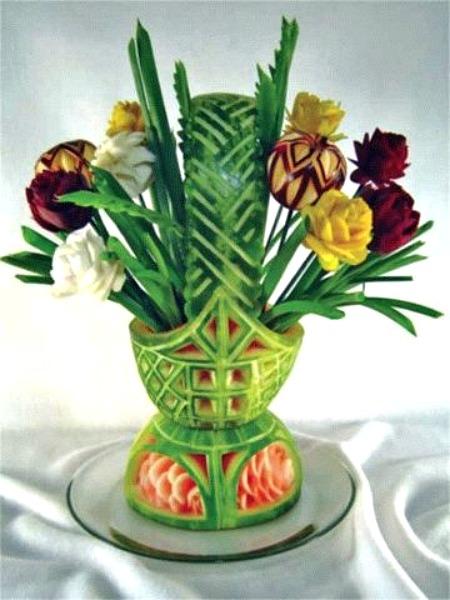 Watermelon basket vase