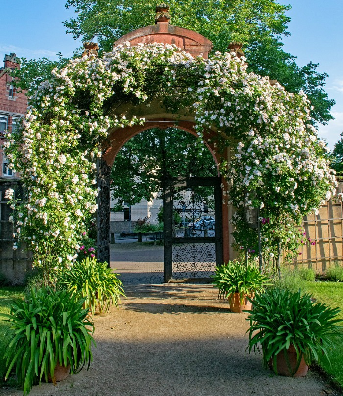 Ornate gabled arbor