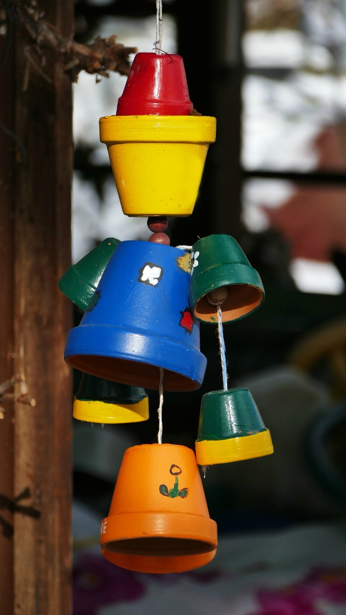 terra cotta wind chime