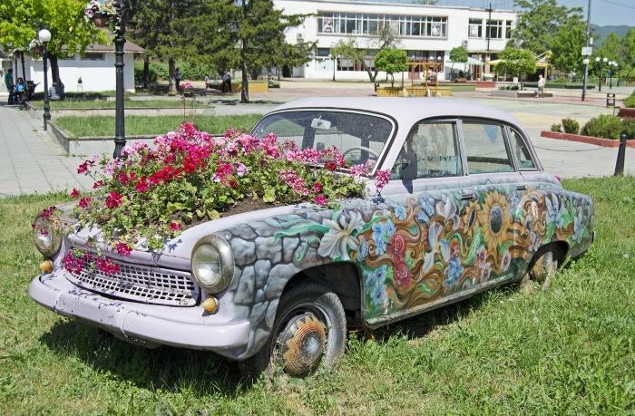 Creative gardening ideas - car planter