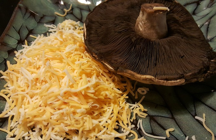 cheese and mushroom cap