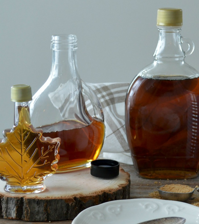 Pure maple syrup and brown sugar