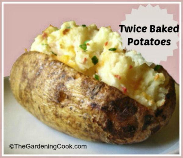 Vegetariajn twice baked potato