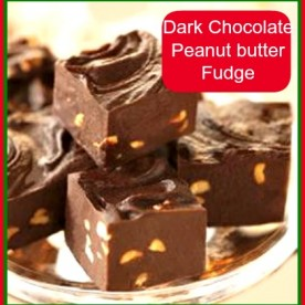 Easy Peanut butter dark chocolate fudge