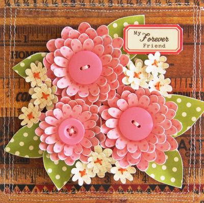 DIY 3 dimensional flower decorations