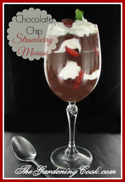 Super easy Chocolate chip strawberry mousse