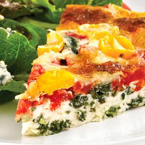 Egg White Quiche With Vegetables Healthier Breakfast Option