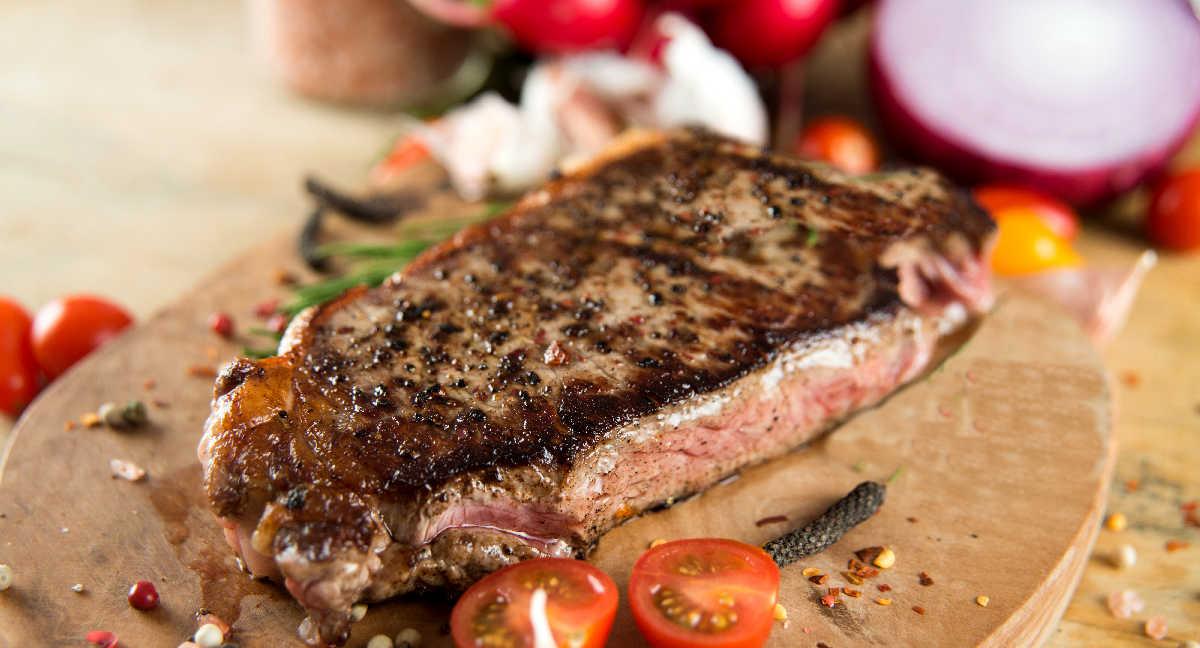 Sirloin steak with Cuban mojo seasoning.