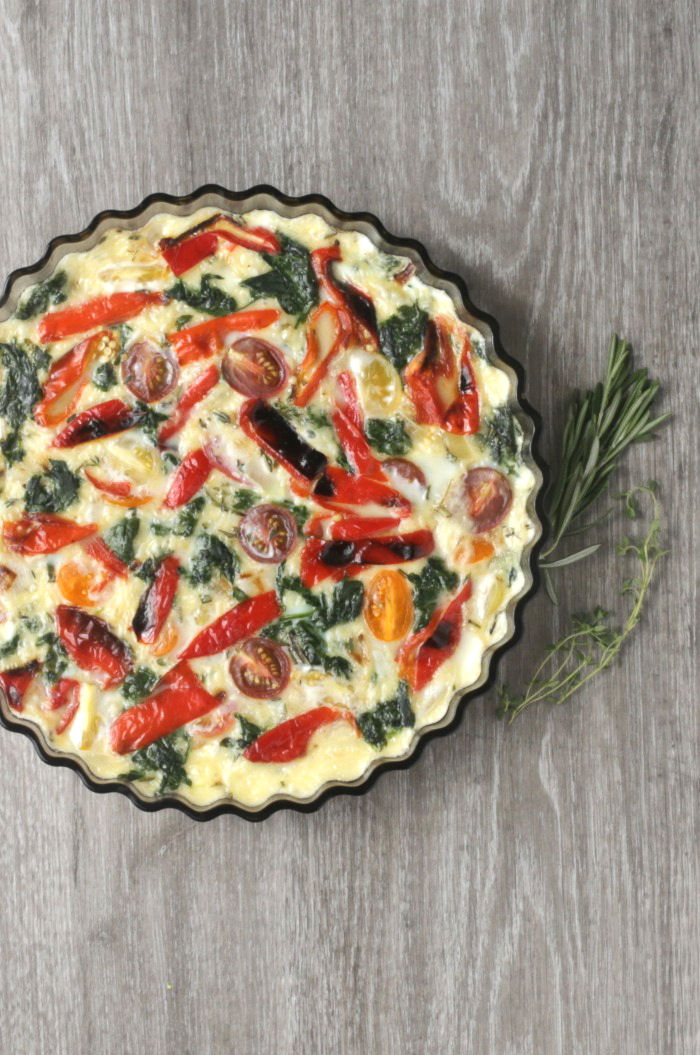 Crustless Egg White Quiche with Vegetables