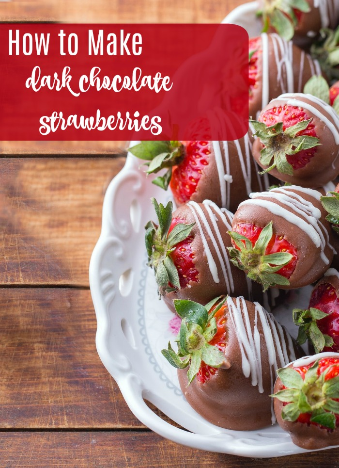 How to make dark chocolate strawberries
