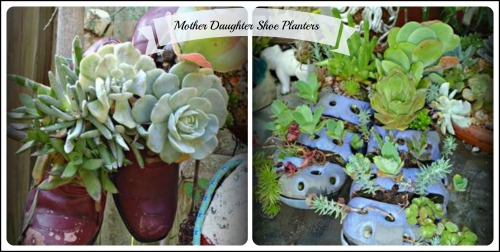 Mother and Daughter Shoe Planters